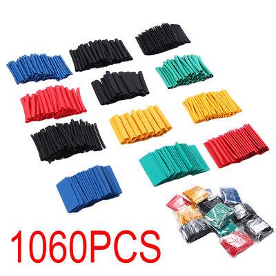 1060pcs Heat Shrink Tube Kit Insulation Shrinkable Tubing 21 Wire Cable Sleeve