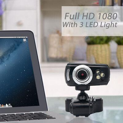 WEBCAM HD 50 MEGAPIXEL 3 LED MICROFONO USB WEB CAM CAMERA SKYPE Laptop PC NOTE