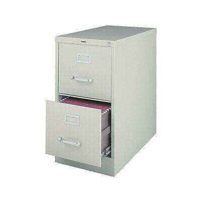 Staples 2-drawer Letter Size Vertical File Cabinet Light Grey 26.5-inch 470382