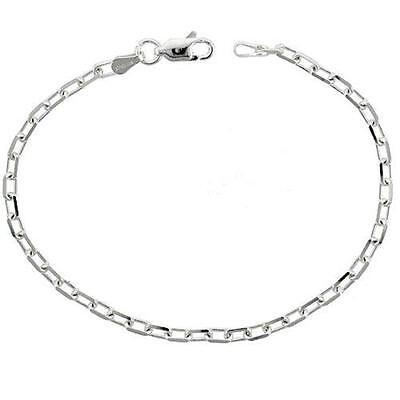 Sterling Silver 3 mm Italian Diamond Cut Boston Cable Chain Necklace or Bracelet 3mm Silver Diamond Cut Bracelet
