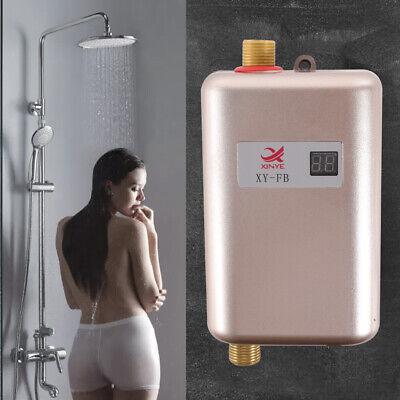 Calentador de agua eléctrico instantáneo baño ducha cocina lavado Mini 3400W