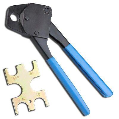 12 Pex Crimper Copper Ring Crimping Tool W Gonogo Gauge Clamp Plumping Blue