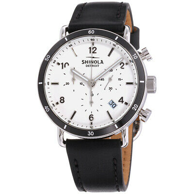 Shinola The Canfield Quartz Movement White Dial Unisex Watch 20089888