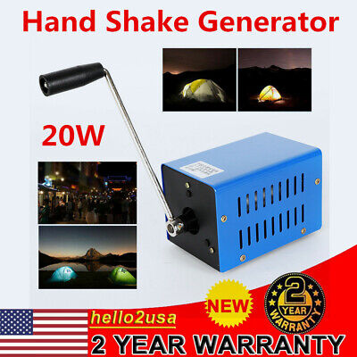 Usa Mini 20w High Power Dynamo Charger Emergency Hand Crank Usb Generator
