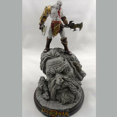 New God Of War 3 Kratos On Zeus Head Resin Figure Statue Fans Collection 26Cm H