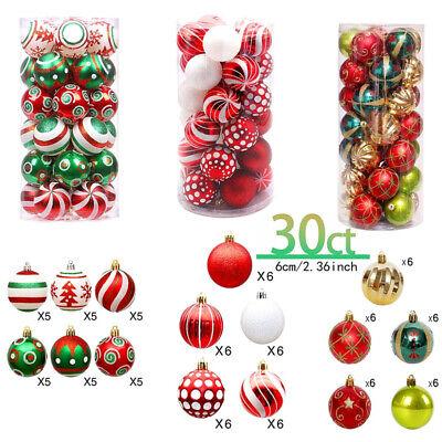 30PCS Christmas Ball Ornaments Shatterproof Xmas Tree Hanging Ball Decoration