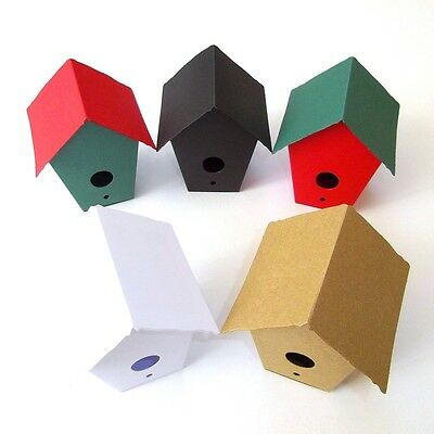 3D Bird House Favour Box For Weddings & Parties, Shabby Chic, Retro Tea - Bird House Favor Box