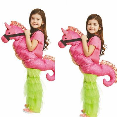 Schritt Seepferdchen Neuheit Lustig Niedlich Märchen Tier Kinder Kostüm - Seepferdchen Kostüm