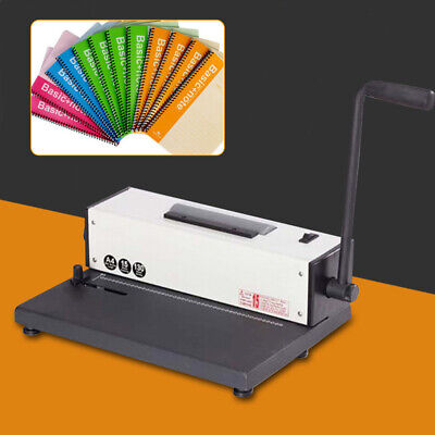 46 Holes Punching Binding Machine All Steel Metal Spiral Coil Binder Puncher