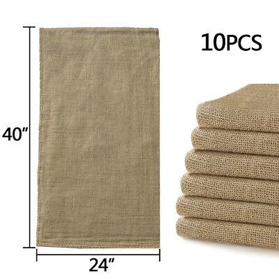 "10pcs Reusable Burlap Jute Bag 24""x40"" Potato Sandbag Sack Gunny Race Bags Sacks for sale  USA"