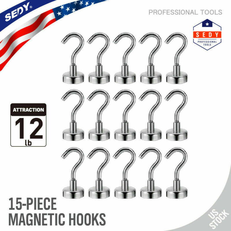 12LB Magnetic Hooks Heavy Duty Magnet Hook with Strong Neodymium Powerful