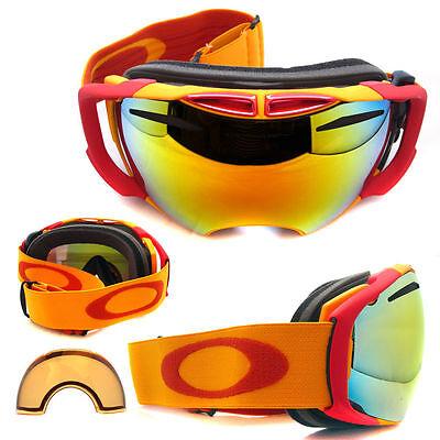 Used, new OAKLEY AIRBRAKE snow goggles BRIGHT ORANGE/FIRE IRIDIUM + PERSIMMON 59-132 for sale  Oklahoma City