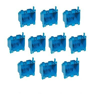 10x Dual 2-gang Wall Outlet Switch Old-work Home Plastic Electrical-box Remodel