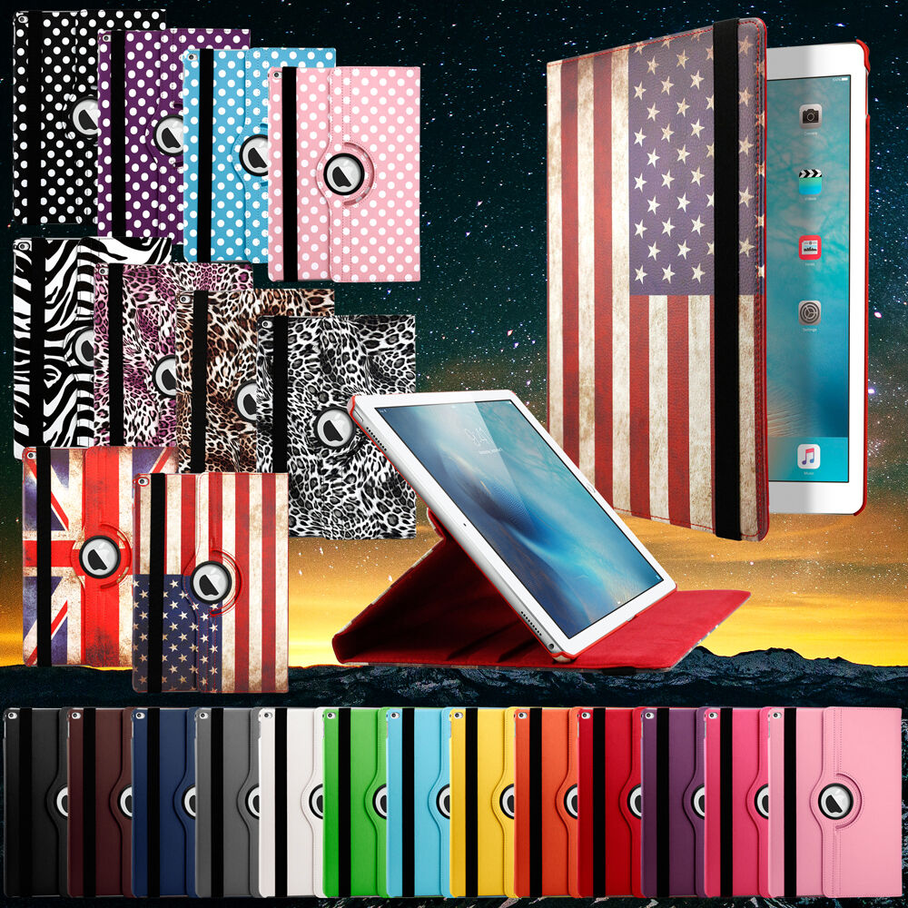 9563f96bdd 360 Rotating Smart Leather Stand Folio Case Cover for Apple iPad Pro 12.9  inch ...