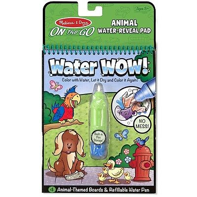 Melissa - Doug Water Wow Water-Reveal Activity Pad, Animals 1 ea - Water Wow Melissa And Doug