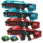 Light Battle Anti-Cheat Mega Blasters - 4 Pack + 2 Targets
