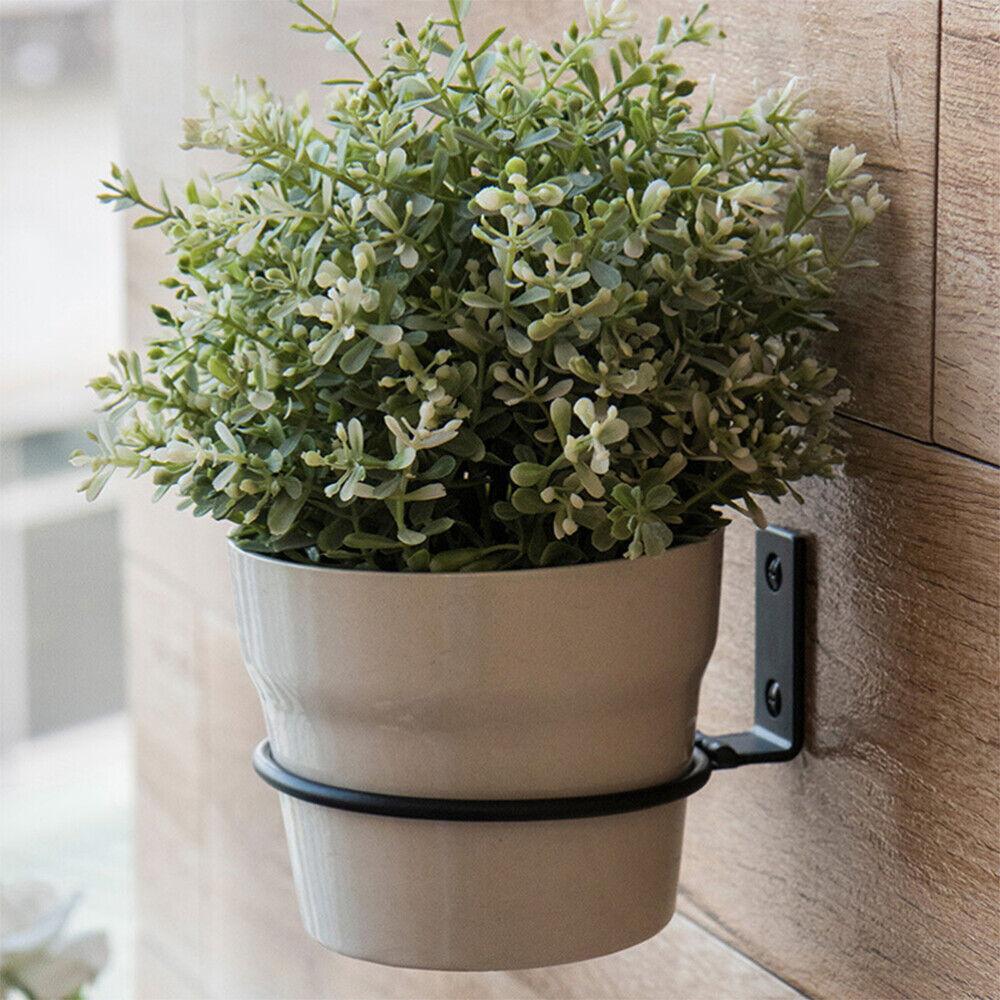 3tlg Garten Blumentopf Halter Hangetopf Ring Wand Montiert Eisen Pflanzer Haken Ebay
