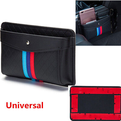 Well PU Leather Car Organizer Pouch Pocket Storage Bag Accessories Self-Adhesive ()