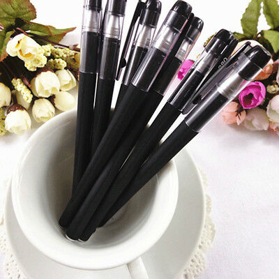 4pcs Black Gel Pen Full Matte Water Pen Student Writing Stationery Office Supply