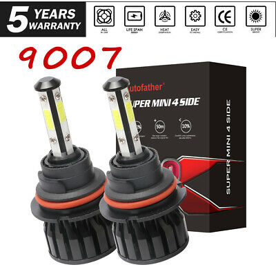 4-Sides 9007/HB5 LED Headlight Kit High Low Dual Beam Bulb 2000W 3000000LM 6000K