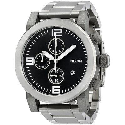 Nixon A347000 ride ss chronograph black dial stainless steel bracelet men watch