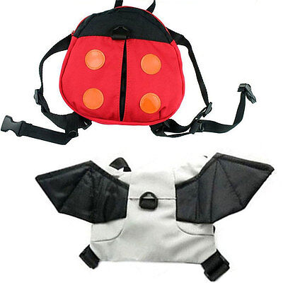 Cute Baby Toddler Backpack Bag with Zipped Pocket Ladybird or Bat