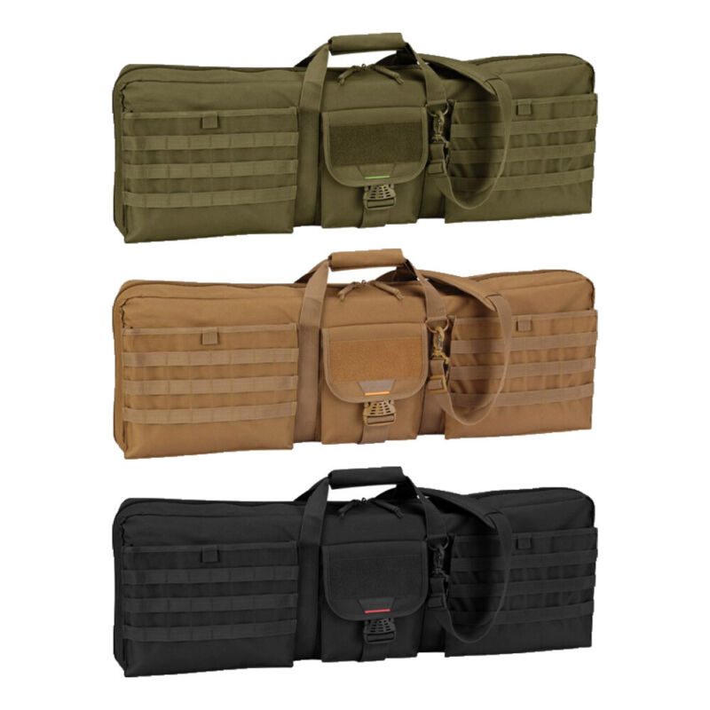 """Propper Single Padded 36"""" Rifle Case Tactical Army Bag w/ Dual Pistol Pockets"""