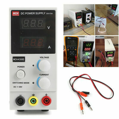 5-a 30v Adjustable Dc Power Supply Precision Variable Dual Digital Lab Test 110v