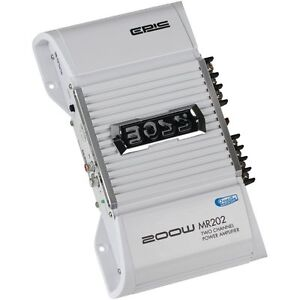 NEW-Boss-MR202-200W-2-Channel-Marine-Boat-Amplifier-Power-Amp-Car-Stereo-White