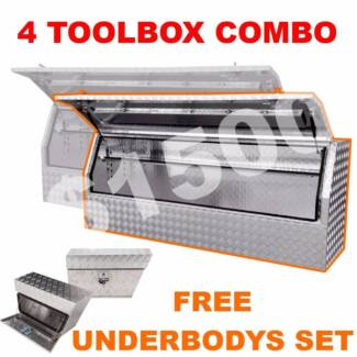 1.8m 4 Box COMBO DEAL, 2.8mm 4 Aluminium Toolboxes Storage Ute. Prestons Liverpool Area Preview