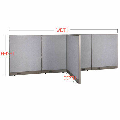 Gof T-shaped Freestanding Office Partition Panel Room Divider 48h