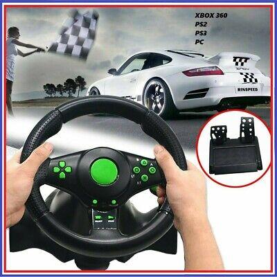 Set Volant et pédales de course pour jeux Xbox 360/ PS2/ PS3 / PC 2020 FR comprar usado  Enviando para Brazil