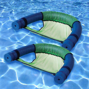 Robelle Noodle Swimming Pool Float Chair Sling   Green   2 Pack