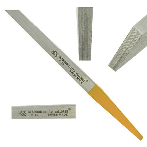 Glardon Vallorbe Swiss Flat Graver Steel Yellow Tang HSS Engraving Jewelry Tool