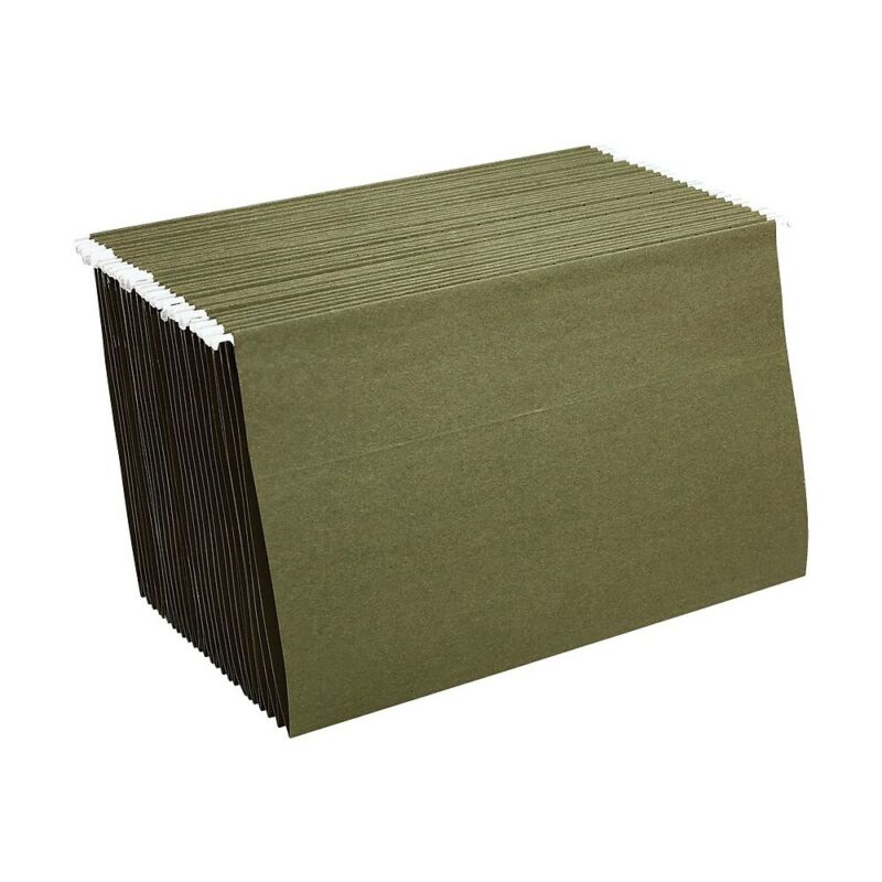 Staples Hanging File Folders Legal Size Standard Green 25/Box (521252) TR521252