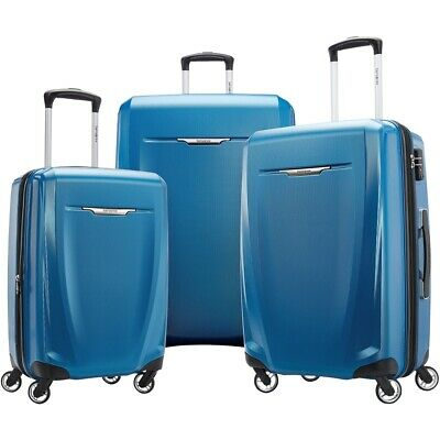 Samsonite - Winfield 3 DLX Wheeled Luggage Set (3-Piece) - Blue/Navy