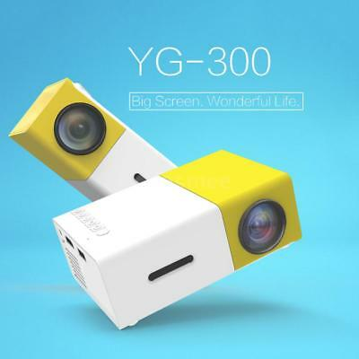 Portable Mini LED Projector 1080P Home Theater HDM USB AV SD Fr PC Laptop Phone