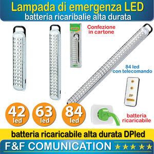 Lampada di emergenza led ricaricabile portatile 42 63 84 for Lampada di emergenza a led