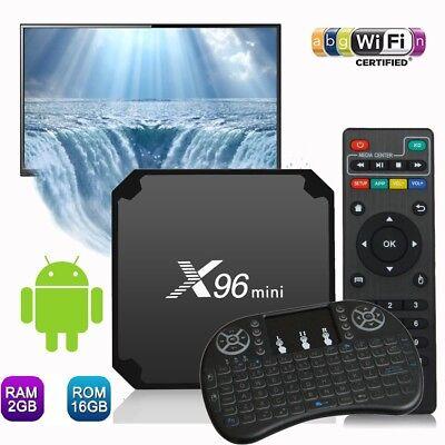 X96 Mini 4K Android 7.1 WiFi Smart TV Box KODI 18.0 64Bits 2G+16G S905W+Keyboard