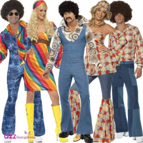 70s 60s Disco Fever Retro Hippie Hippy Adult Mens Womens ...