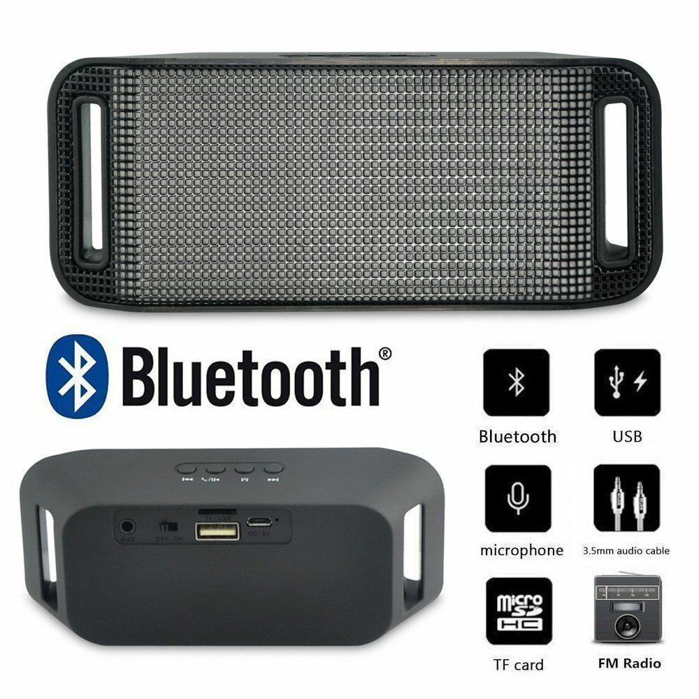 SUPER BASS Bluetooth Wireless Mini Portable Stereo Speaker For Smartphone Tablet