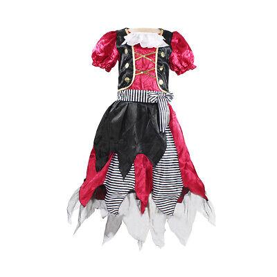 Buccaneer Pirate Girls Child Costume Halloween Cosplay Dress