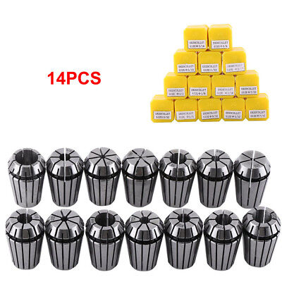 14pcs Er20 116-12 Spring Collet Kit For Cnc Milling Lathe Chuck Tool Holder