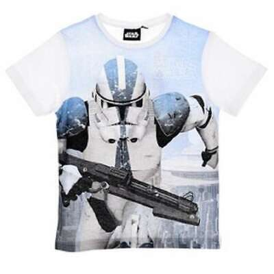 Boys Star Wars Storm-trooper Yoda Tshirt Darth Vader T-Shirt Top tshirt Age 4-10
