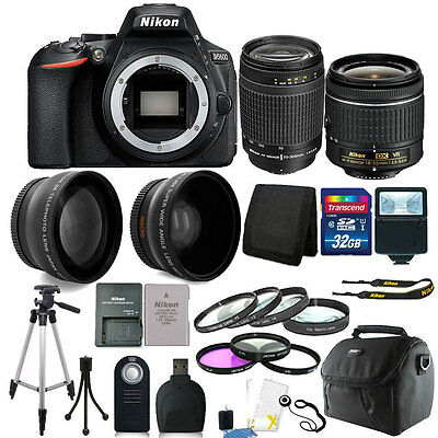 Nikon D5600 24.2 MP D-SLR Camera + 18-55mm & 70-300mm Lens + 32GB Accessory Kit
