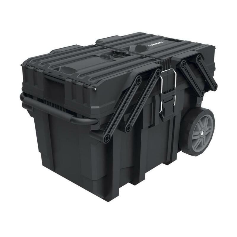 Husky 15 Gallon Cantilever Mobile Job Box Tool Cart Storage