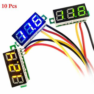 10 Pcs Mini Dc 0-100v 0.28 3-digital Voltmeter Led Voltage Panel Meter 3-wires
