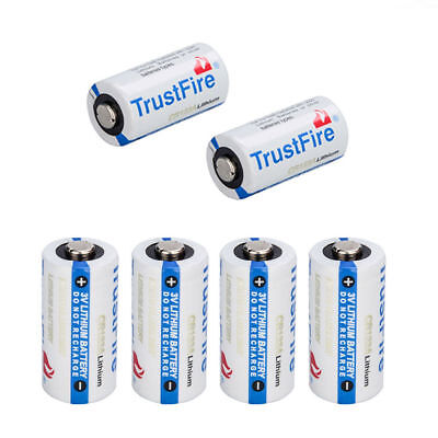Trustfire 123A Cr123a 3 Volt Lithium Batteries  6 Pack  For Camera  Flashlight
