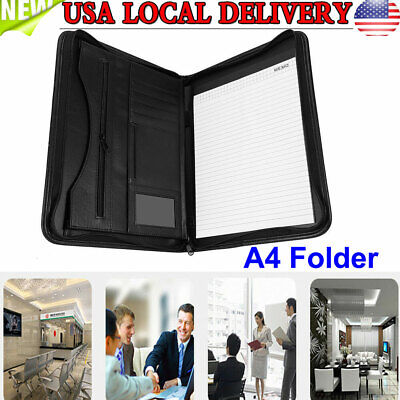 A4 Executive Conference Document Folder Pu Portfolio Leather Organiser