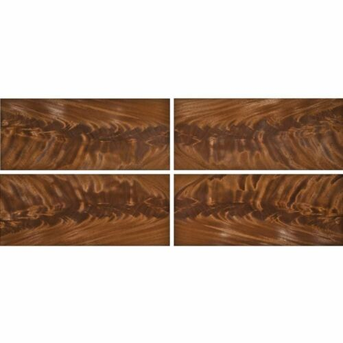 "Exotic Mahogany Crotch Wood Veneer Raw/Unbacked (4 pc Pack - 16"" x 36"" Total)"